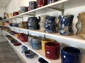 A variety of bowls, pitchers, cups and plates are available for purchase at Brown's Pottery in Hamilton. (Dennis Washington / Alabama NewsCenter)