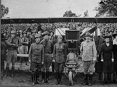 Pioneering aviator Ruth Law (1887-1970) performed aerial stunts for the troops at Camp McClellan on Oct. 27, 1917. Law lobbied U.S. military leadership unsuccessfully for women to be allowed to serve as pilots in World War I. (From Encyclopedia of Alabama, National Archives and Records Administration)
