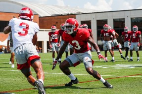 Daniel Wright prepares for the 2019 season. (Jeff Hanson/University of Alabama Athletics)