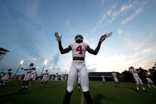 Alabama wide receiver Jerry Jeudy (4). (Robert Sutton/University of Alabama Athletics)