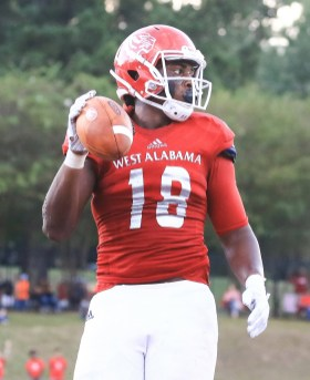 Tight end Qua Boyd is an offensive leader for West Alabama this season. (West Alabama Athletics)