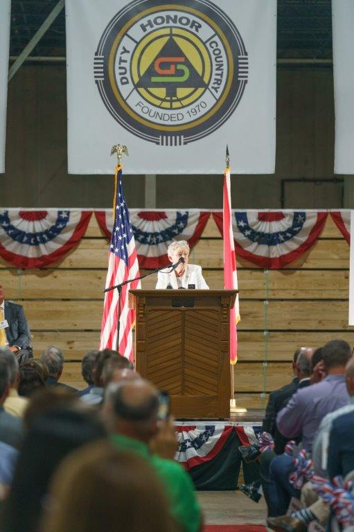 Alabama Gov. Kay Ivey participated in the grand opening of the Abbeville Fiber sawmill. (Sydney A. Foaster/Governor's Office)