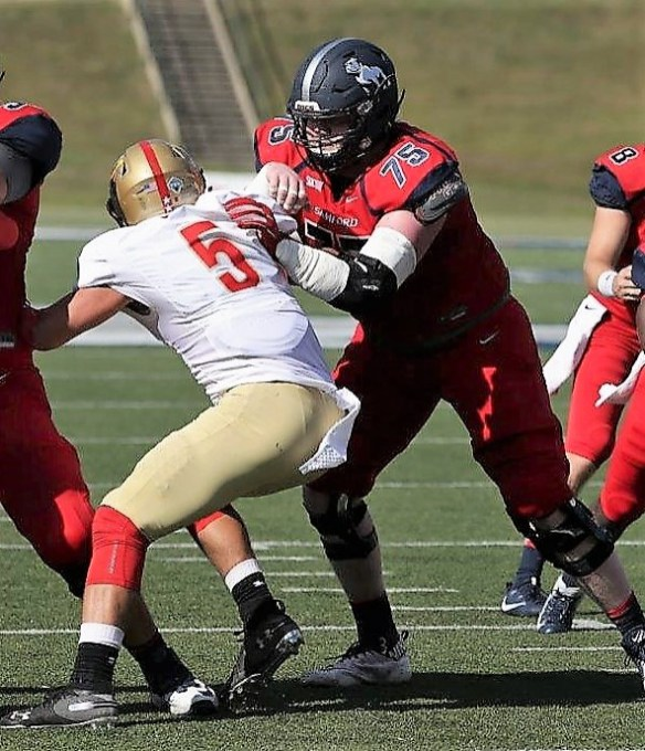 Samford Bulldogs offensive lineman Brendan Loftus is part of a unit that is expected to be a strength of this year's team. (Chase Cochran/Samford University Athletics)