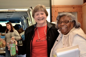 Jo Wills from the Alabama CBF Coordinating Council and Dorothy Hornbuckle, a staff member of Sowing Seeds of Hope. (CBF Alabama)