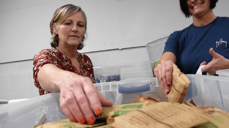 Backyard Blessings started out 10 years ago providing food for 80 children. Now it serves about 850 children per week. (Karim Shamsi-Basha/Alabama NewsCenter)