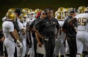 Donald Hill-Eley coaches the Alabama State Hornets. (Alabama State Athletics)