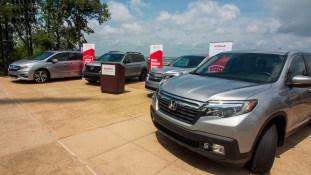 Recent models of the Honda Odyssey, Honda Pilot, Honda Passport and Honda Ridgeline. (Dennis Washington / Alabama NewsCenter)
