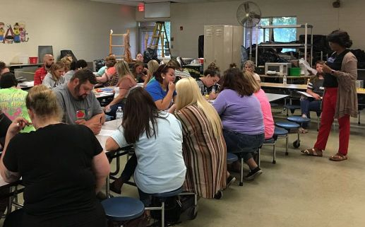 Parents learn how to help their kids do their best in school. (Tiffany Scott/West End Elementary School)