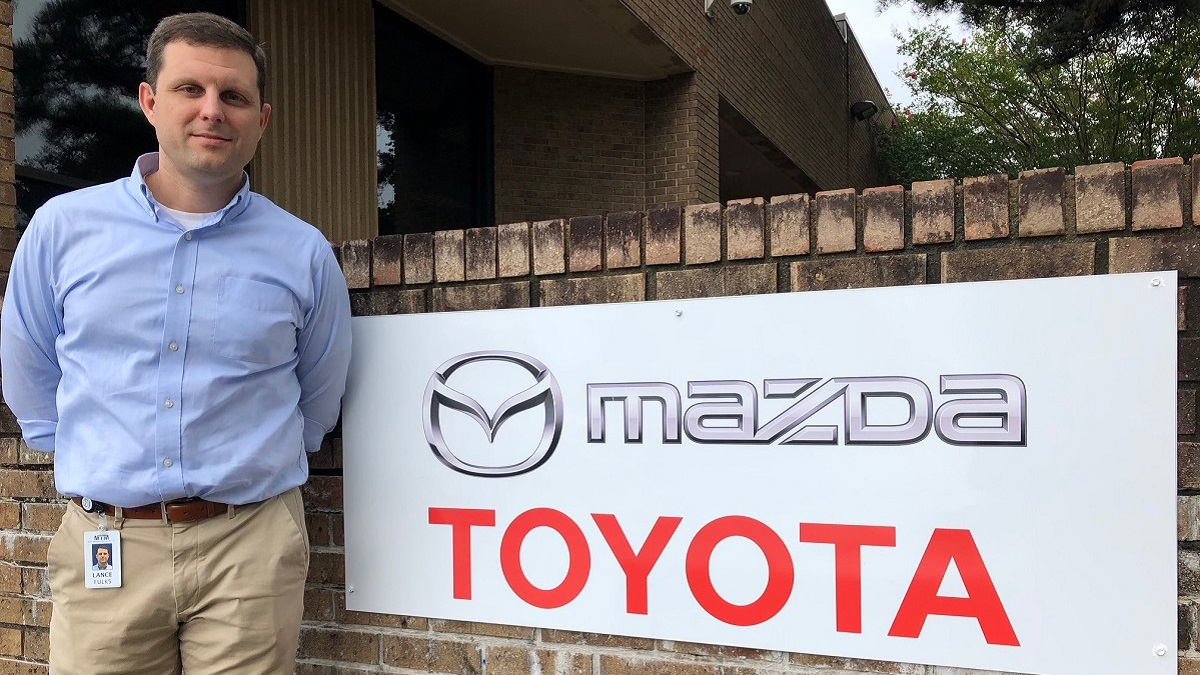North Alabama native brings touch of Huntsville history to Mazda Toyota plant