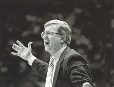 Gene Bartow coaching a game. (The University of Alabama at Birmingham)