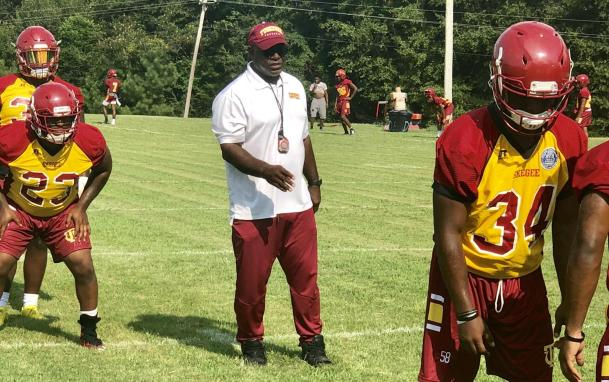 Tuskegee Head Football Coach Willie Slater is excited about his team this year. (Tuskegee University Athletics)