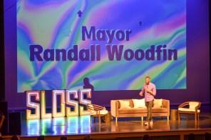 Birmingham Mayor Randall Woodfin speaks at Sloss Tech 2019. (Michael Tomberlin / Alabama NewsCenter)