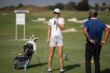 The Alabama Power Junior Clinic brought Alabama students and professional golfers from the LPGA Symetra Tour Guardian Championship together at the Robert Trent Jones Golf Trail at Capitol Hill. (Christopher Jones / Alabama NewsCenter)