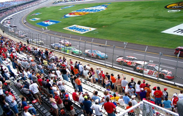 Talladega Superspeedway, in north-central Talladega County, is one of the largest and fastest racetracks in the world. It was built by NASCAR founder Bill France and opened in 1969. The facility lies adjacent to the International Motorsports Hall of Fame. (From Encyclopedia of Alabama, courtesy of Valerie Glenn)