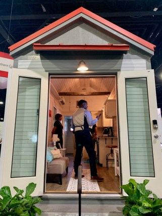 A Southern Company display at the Smart City Expo Atlanta shows some of the features in a Smart Neighborhood home. (Justin Averette/Alabama NewsCenter)