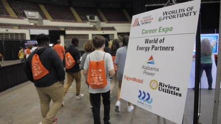 The Worlds of Opportunity is presented by a number of sponsors. (Dennis Washington / Alabama NewsCenter)