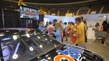 Students learn about career opportunities. (Dennis Washington / Alabama NewsCenter)