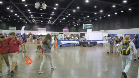 128 companies were represented at the 2019 Worlds of Opportunity in Mobile. (Dennis Washington / Alabama NewsCenter)