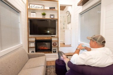 James Brewer, president of Alabama Tiny Homes, doesn't just build small houses, he lives in one. (Phil Free / Alabama NewsCenter)