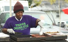 A vendor cooks up food at the Magic City Classic. (Solomon Crenshaw Jr. / Alabama NewsCenter)
