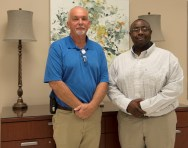 Alabama Power Foundation's grant to Ingram State Technical College has benefited its program to give prison inmates new job skills for their release. ISTC instructor Stan Humphries, left, helped train former inmate Robbie Wright, right, for a career in HVAC.(Brittany Faush / Alabama NewsCenter)