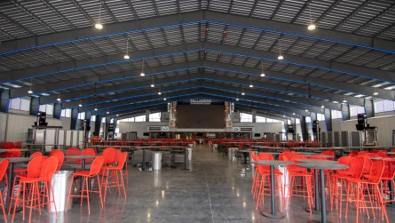 Inside the 35,000-square-foot Big Bill's Social Club at Talladega Superspeedway. (Dennis Washington / Alabama NewsCenter)