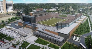 Birmingham's Protective Stadium will play host to the AHSAA Super 7 High School Football Championships every third year starting in 2021. (Populous)