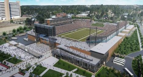 Birmingham's Protective Stadium is under construction. (Populous)