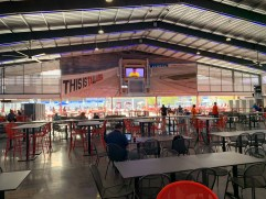 Fans can sit in the covered pavilion and watch the race. (Dennis Washington / Alabama NewsCenter)