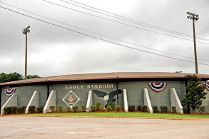 Eagle Stadium, where the national anthem brings patriotic crowds to their feet. (Phil Free/Powergrams)