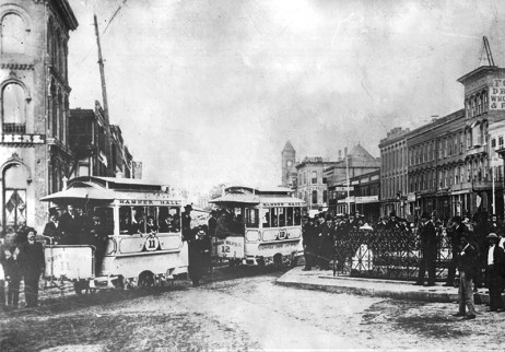 In 1886, Montgomery became the first U.S. city to initiate an electric streetcar system, the Capital City Street Railway Co. (From Encyclopedia of Alabama, courtesy of the Alabama Department of Archives and History)