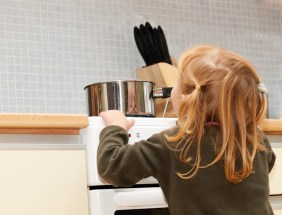 Children should always be at least 3 feet away from the stove. (Getty Images)