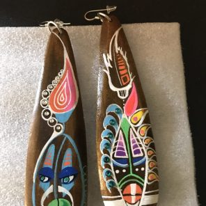 In creating earrings, Yogi Dada likes to experiment with color and shapes. (Keisa Sharpe)