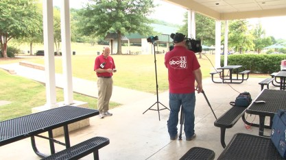 James Spann gets ready for a live weather report. (contributed)