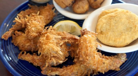 The Coconut Shrimp at DeSoto's Seafood Kitchen in Gulf Shores is one of 100 Dishes to Eat in Alabama Before You Die. (Chad Allen / Alabama NewsCenter)