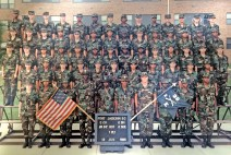 Edna Felton with her basic training graduating class 30 years ago. She is far left on top row wearing her squad leader stripes. (contributed)