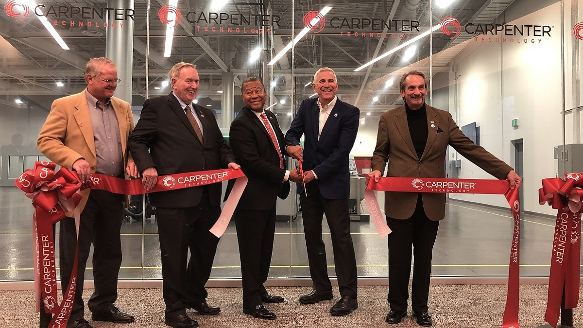 Carpenter Technology opens Alabama additive manufacturing center