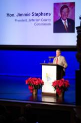 Jefferson County Commission President Jimmie Stephens speaks at the BBA annual meeting. (BBA)
