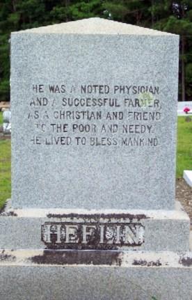 Gravesite of Dr. Wilson L. Heflin. (Photograph by William Fischer, Jr., findagrave.com)
