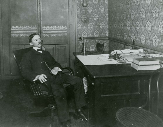 Thomas W. Martin in his law office in Montgomery, c. 1910. (Alabama Power Company Archives)