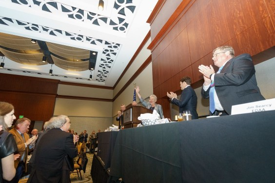 Attendees applaud Gov. Kay Ivey at this week's Economic Development Association of Alabama conference. (Sydney A. Foster/Alabama Governor's Office)