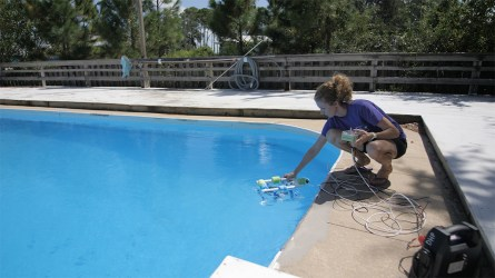 Rachel McDonald, ROV competition coordinator at Dauphin Island Sea Lab, says DISL will host two ROV regional competitions this year. (Dennis Washington / Alabama NewsCenter)