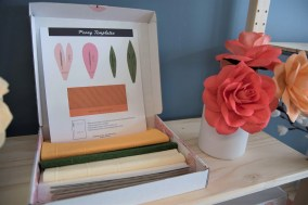 In addition to selling its own paper flower creations, The Paper Petals Co. sells kits that purchasers can use to make their own. (Brittany Dunn/Alabama NewsCenter)
