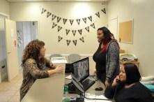 Pathways' philosophy hangs on the wall -- hospitality, housing and hope. (KarimShamsi-Basha/Alabama NewsCenter)