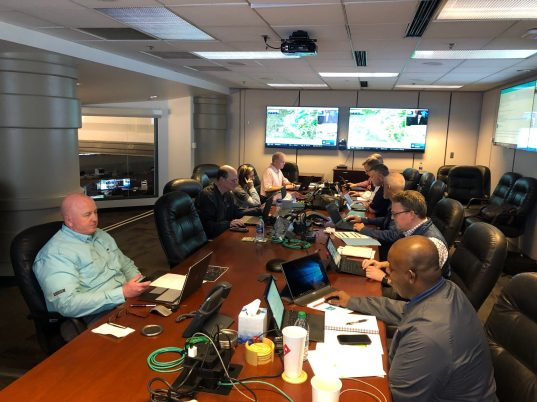 Alabama Power began operating its Storm Center on Friday and has been monitoring outages and deploying resources to restore them following Saturday's storms. (Alabama NewsCenter)
