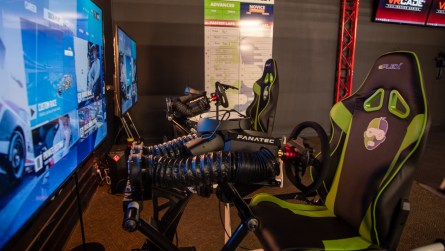 The Magic City ePLEX features top-of-the-line HP Omen PCs and consoles, as well as VR racing simulators from a Birmingham-based Nemesis Lab. (Dennis Washington / Alabama NewsCenter)
