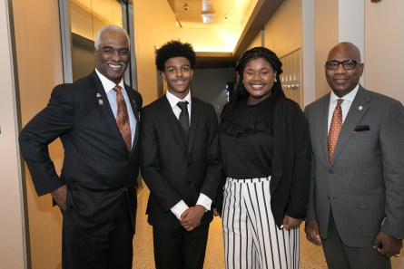 Following his own success as a top Pfizer executive, Forest Harper Jr., left, has spent the past decade helping create opportunity for thousands of young people. (contributed)
