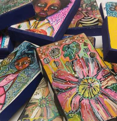 Black G.R.I.T.S. is the artist name of Alabama Maker Lynthia Edwards who uses bright colors to tell stories of the Southern black experience. (contributed)