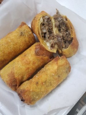 Cheesesteak egg rolls are among the newest menu items at T-Bone's. (Brittany Dunn/Alabama NewsCenter)