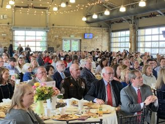 About 270 guests gave their rapt attention. (Donna Cope/Alabama NewsCenter)